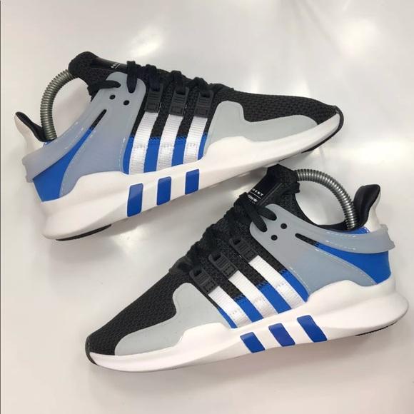 the latest c0e46 e2d83 NEW KIDS Adidas EQT Support Adv Blue/Blk/Wht
